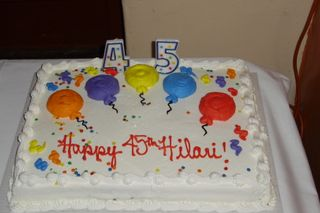 cake with the wrong age....